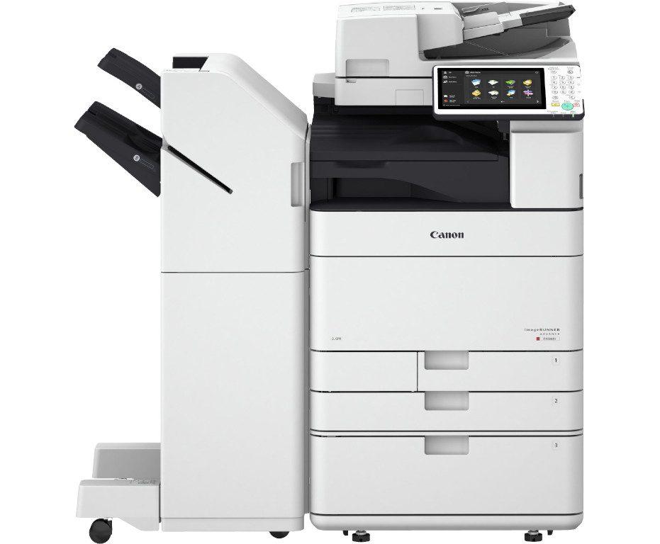 imageRUNNER ADVANCED C5550i mit Kassettenbank A1 und Heftfinisher