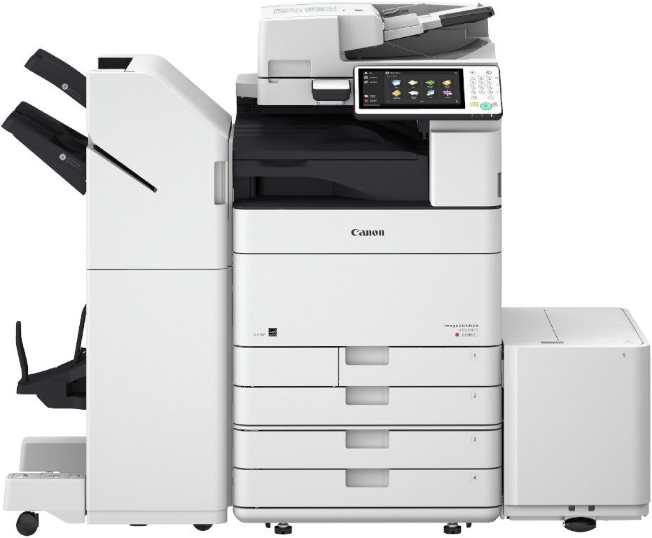 imageRUNNER ADVANCED C5560i mit Kassettenbank AM1 und Broschuerenfinisher
